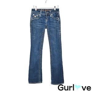 Rock Revival 26 Celine Boot Rhinestone Blue Jeans